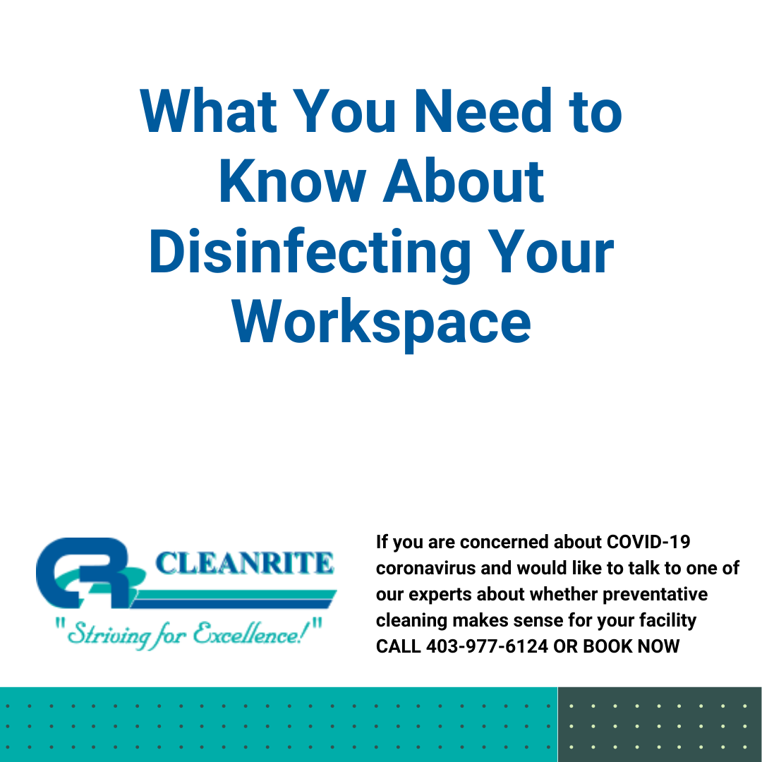 Disinfecting your workspace