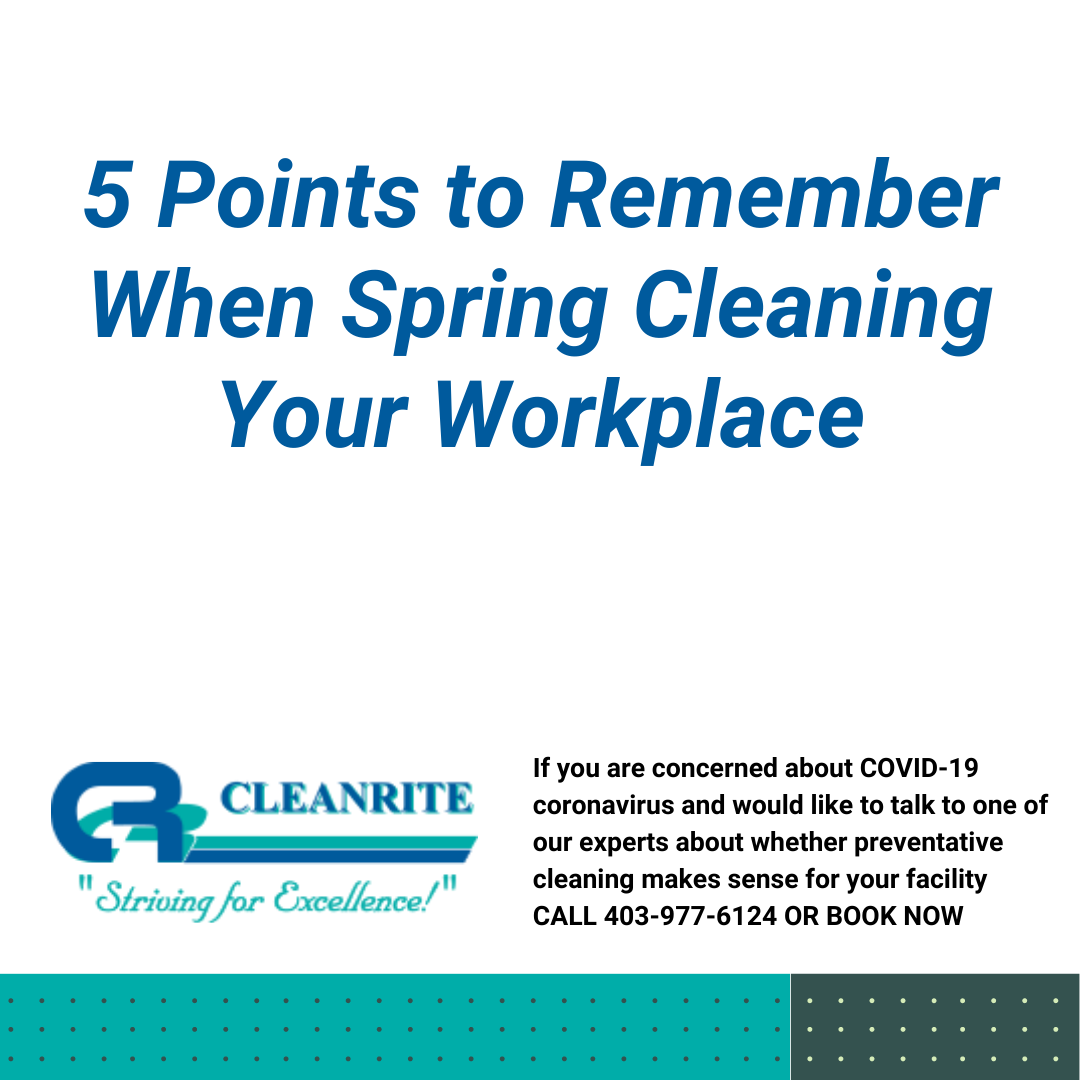 cleaning your workplace